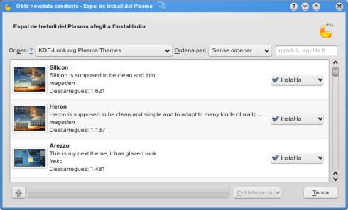 Cómo añadir temas nuevos de escritorio a KDE 4.1