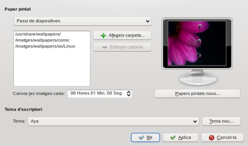 Cómo cambiar automáticamente el fondo de pantalla en KDE4