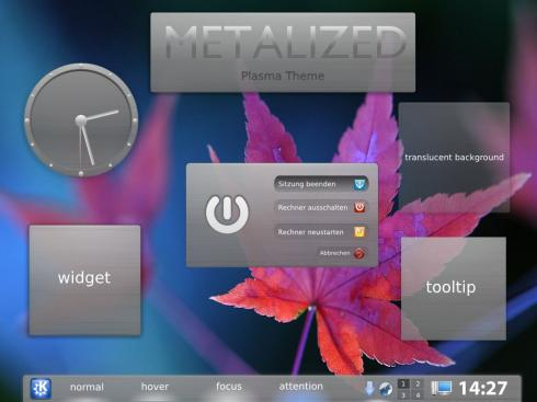 Plasma Theme Metalized