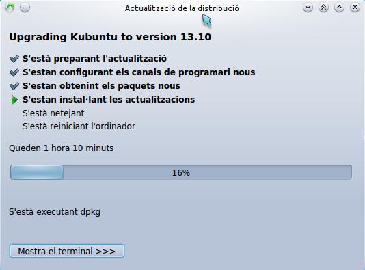 Kubuntu update 13-04 to 13.10