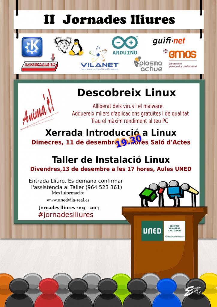 Taller de instalación de Linux del 15 de diciembre en la UNED de Vila-real