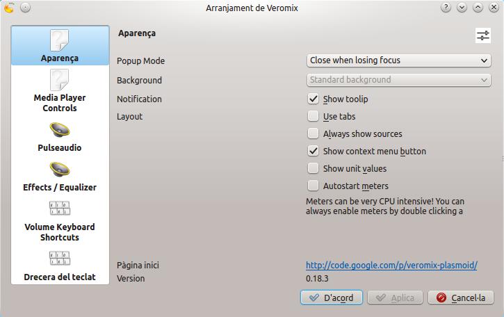 Cómo aumentar el volumen del sonido en KDE con Veromix