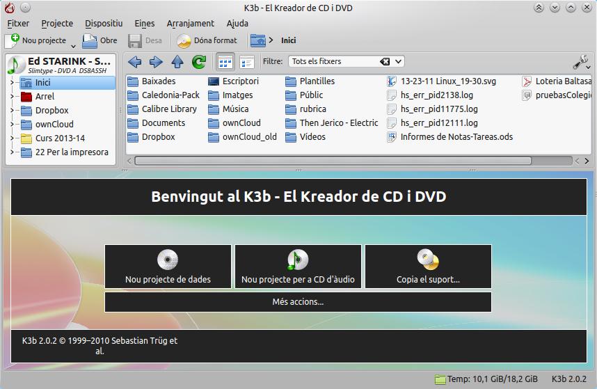 Cómo extraer audio de un CD con K3b