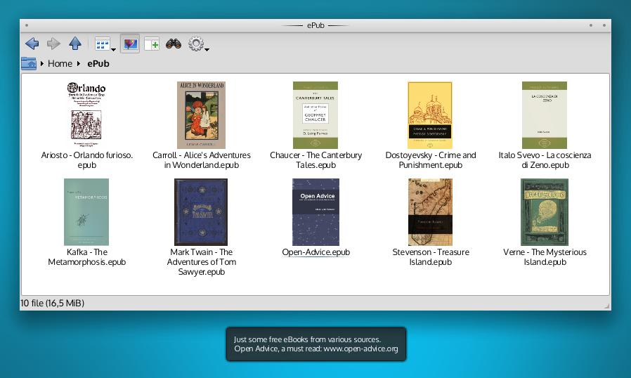 KDE ePub Thumbnailer