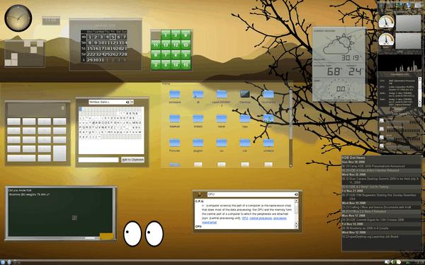 25 plasmoides para KDE