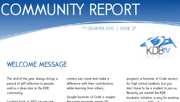 Cuarto informe de 2014 de KDE