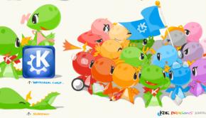 La mascota de KDE