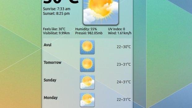 Yahoo! Weather Widget