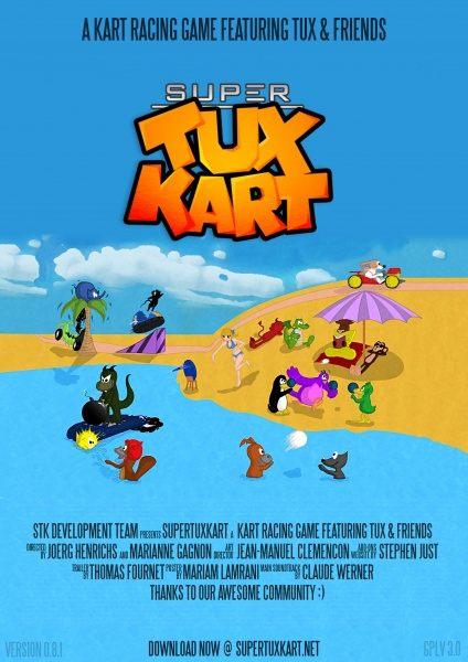 SuperTuxKart, el juego de karts de linux