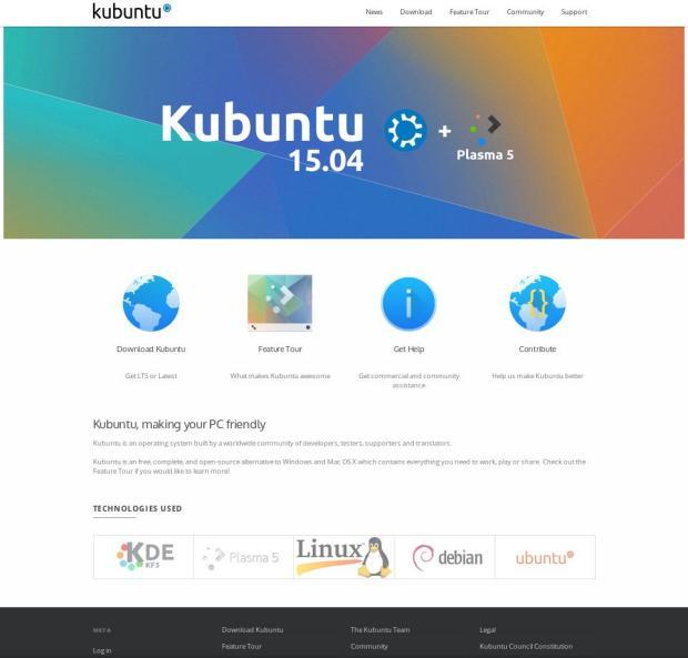 Nueva web de Kubuntu