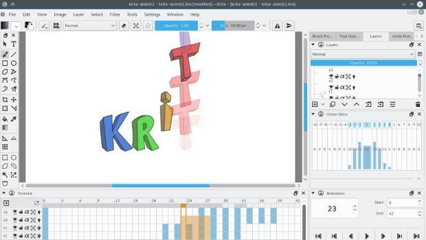 Pimera beta de Krita Animation
