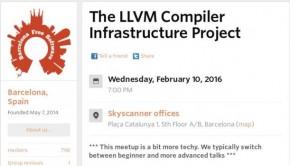 El proyecto LLVM en las charlas de Barcelona Free Software