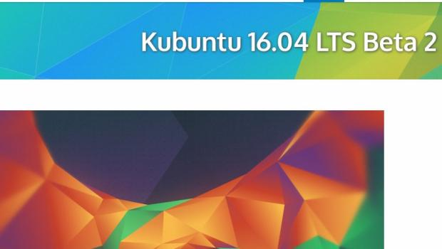 Disponible la segunda beta de Kubuntu 16.04