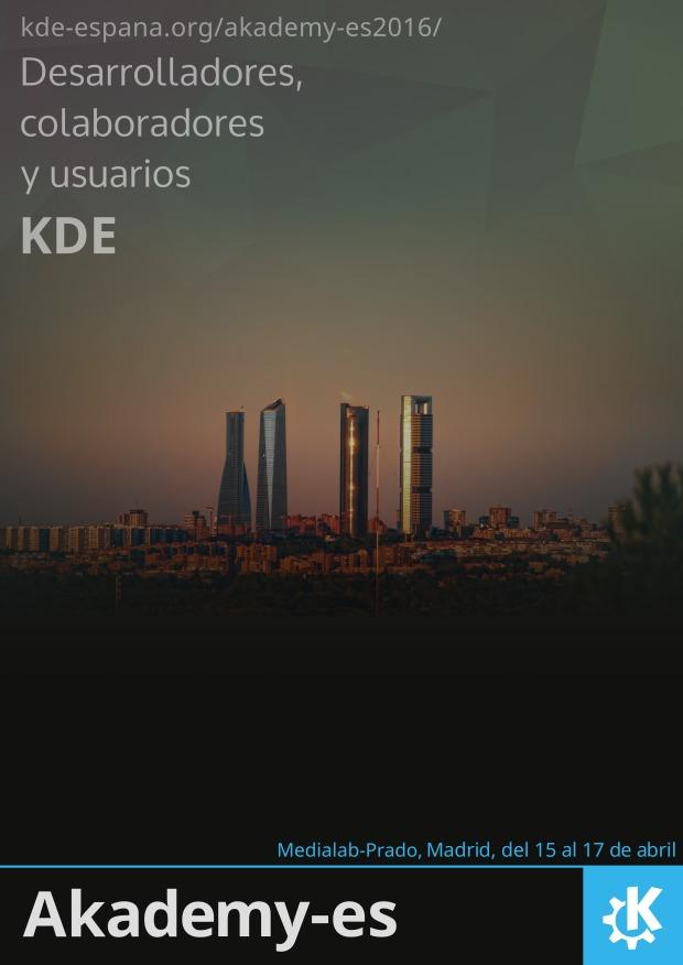 Ayuda en la promoción de Akademy-es 2016 de Madrid