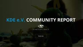Primer informe de 2015 de KDE e.V. Quarterly Report