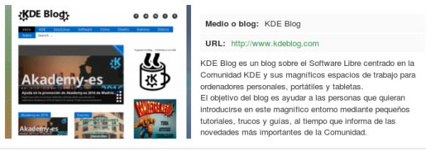 KDE y KDE Blog se presentan a los Open Awards