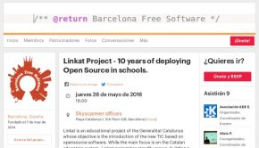 Linkat en las charlas de Barcelona Free Software