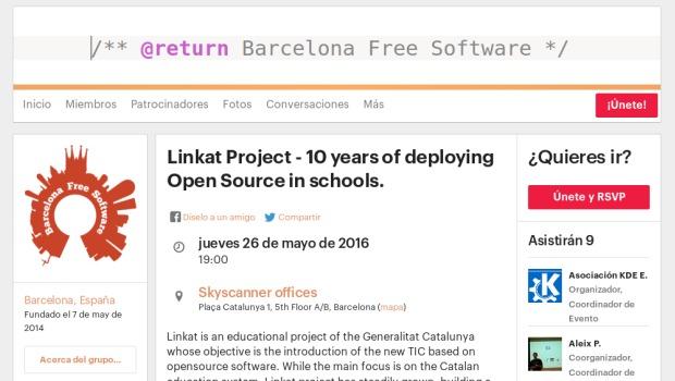 Linkat en las charlas de Barcelona Free Software