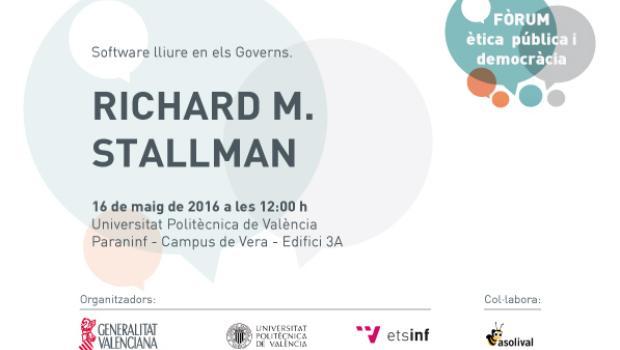 Richard Stallman en Valencia