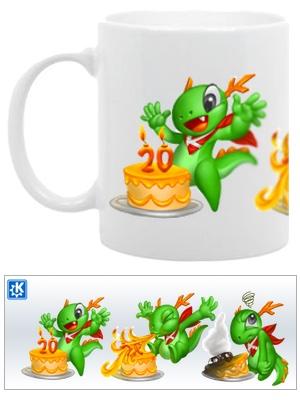 Taza 20 aniversario KDE