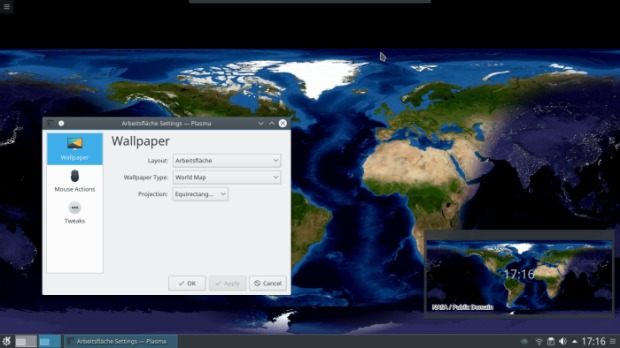 Plasma World Map Wallpaper