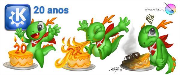 Fiestas 20 aniversario de KDE