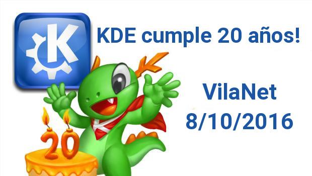 KDE celebrará sus 20 años en VilaNet 2016