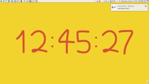 Bezier-clock
