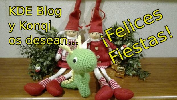 KDE Blog y Konqi os desean ¡Felices Fiestas!