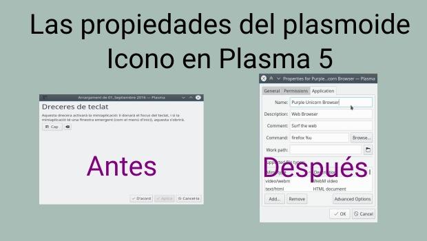 Vuelven las propiedades del plamoide Icono a Plasma 5