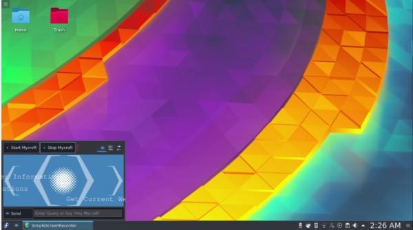 Mycroft se acerca a KDE mediante un plasmoide
