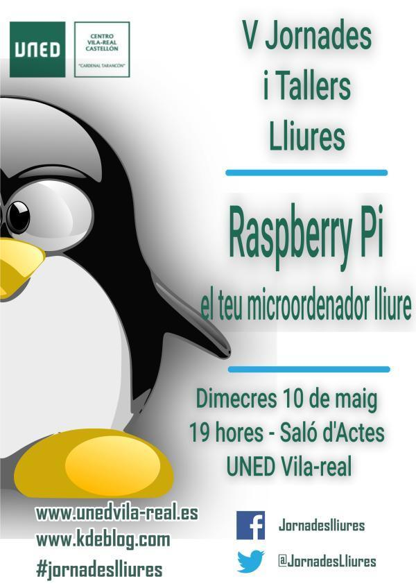 Raspberry Pi en las V Jornadas Libres de la UNED de Vila-real