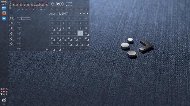 Mi escritorio Plasma KDE de agosto 2017