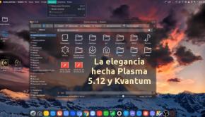 La elegancia hecha Plasma 5.12 y Kvantum