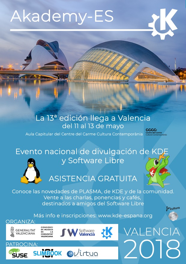 Empieza Akademy-es 2018 de Valencia