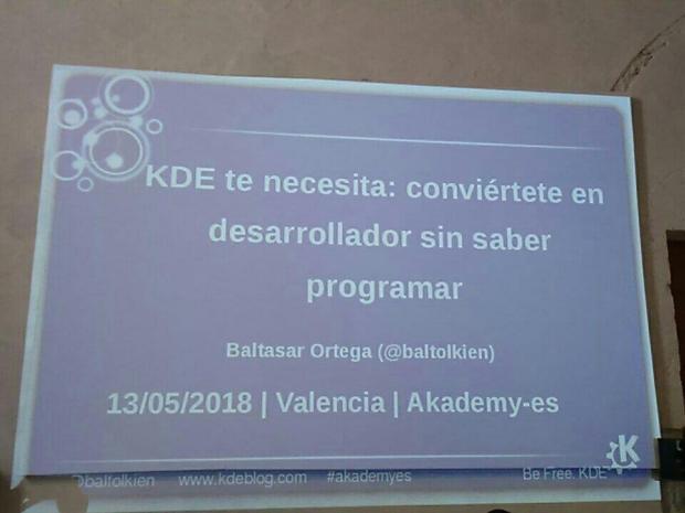 Una mañana de domingo en Akademy-es 2018 de Valencia
