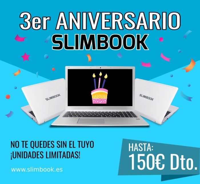 Slimbook cumple 3 años