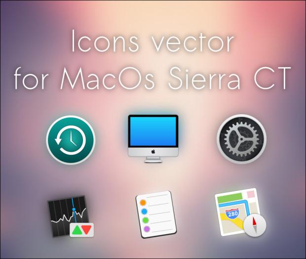 MacOS sierra CT, más iconos para Plasma