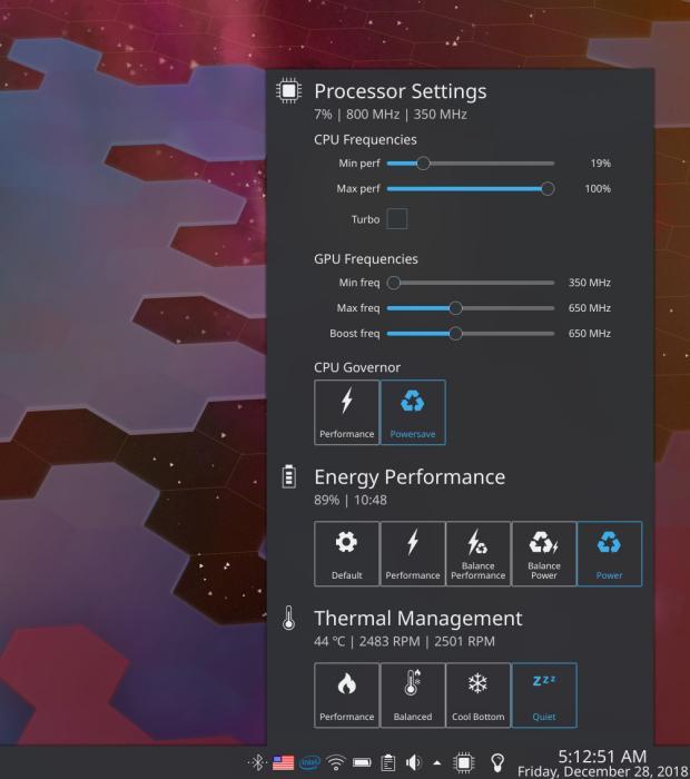 Intel P-state y CPUFreq Manager - Plasmoides de KDE (98)