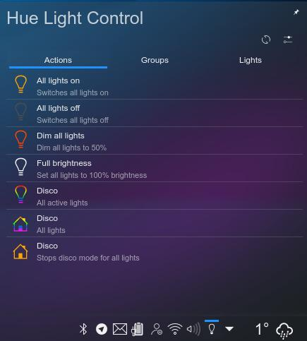 Philips Hue light control - Plasmoide de KDE (94)