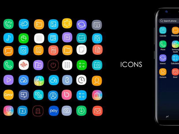 Infinity S9, pack de iconos para Plasma basado en Galaxy S9