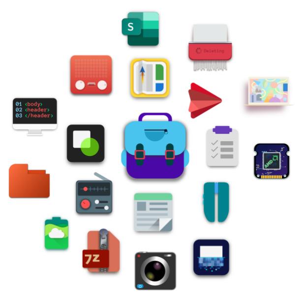 School Material, iconos escolares para tu escritorio Plasma KDE