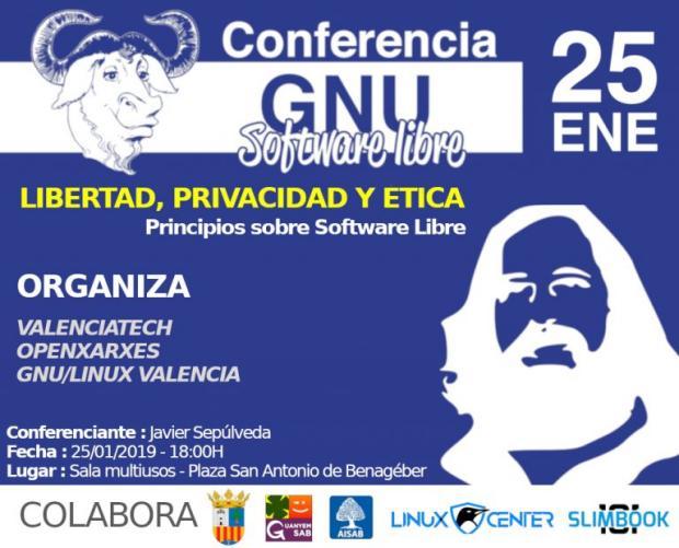 Conferencia Software Libre Libertad, Privacidad y Ética