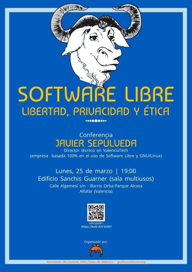 Conferencia de Javier Sepúlveda, sobre Software Libre, libertad, privacidad y ética