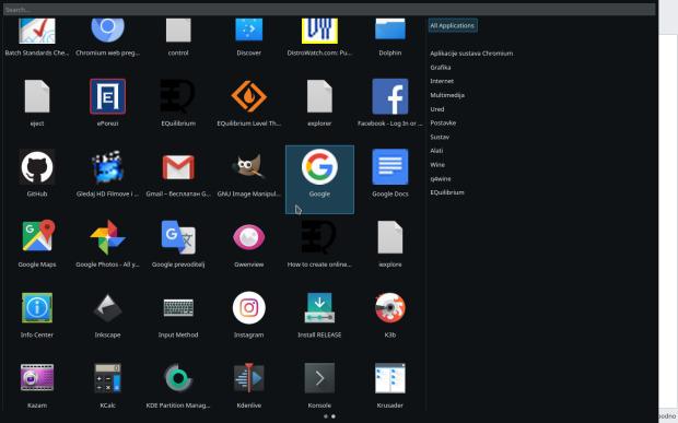 EQMenu, lanzador de aplicaciones para EQuilibrium - Plasmoides de KDE (107)