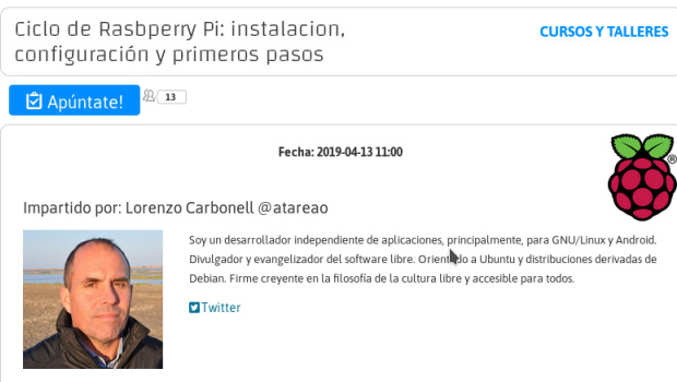 Ciclo de Rasbperry Pi en Linux Center en Valencia