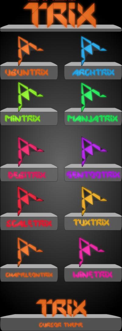 Trix para Plasma, cursores estilo luces de neon