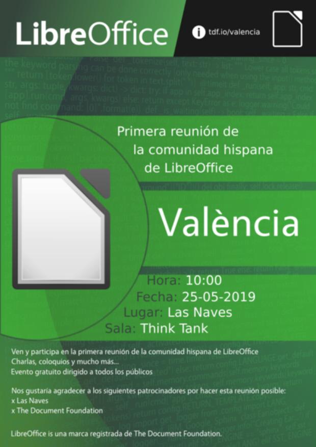 Primera reunión de la comunidad hispana de LibreOffice tendrá lugar en València