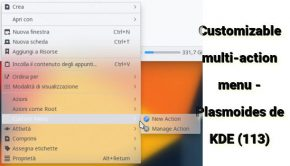 Customizable multi-action menu - Plasmoides de KDE (113)