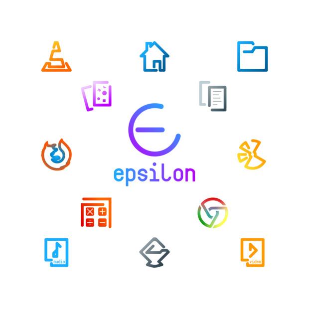 Epsilon Icons, otro tema de iconos estilo neon para tu escritorio